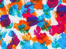 Bunte Künste der Hintergrundbeschaffenheit, die Acrylwasser malen Lizenzfreies Stockfoto