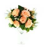 Bunte künstliche Blumen-Anordnung Lizenzfreie Stockbilder