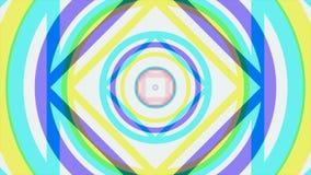 Bunte kaleidoskopische Animation schlingt endlos - großes für Websitehintergründe Halluzinogenische Kaleidoskopanimation stock abbildung