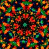 Bunte kaleidoskopische Kunstillustration Bildzusammensetzungsdesign Kreative Plakatidee Fantasie gesprenkelter Hintergrund Konzep Lizenzfreie Stockbilder