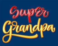 Bunte Kalligraphiephrase des Supergroßvaters auf dunklem Hintergrund stock abbildung