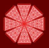 Bunte Karte mit Mandala Stockfotografie