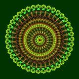 Bunte Karte mit Mandala Lizenzfreies Stockfoto
