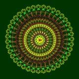 Bunte Karte mit Mandala Stockbild