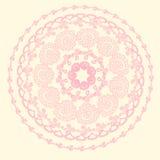 Bunte Karte mit Mandala Stockbilder
