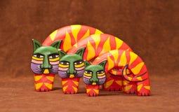 Bunte Katze-Dekoration Stockfoto