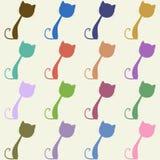 Bunte Katzen, nahtloses Muster Lizenzfreie Stockfotografie