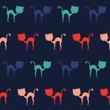Bunte Katzen, nahtloses Muster Stockfotografie