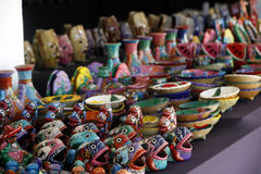 Bunte Keramik Stockfotografie