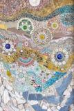 Bunte Keramikziegelkunst der Wand Lizenzfreies Stockfoto