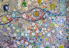 Bunte Keramikziegelkunst der Wand Lizenzfreie Stockfotografie