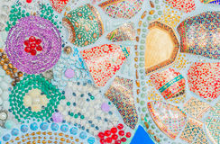 Bunte keramische Musterdekoration Stockbilder