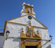 Bunte Kirche in Spanien Stockfotografie