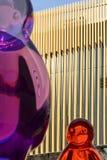 Bunte klare Formen und Seite von Russland-Pavillon, AUSSTELLUNG 2015 MI Lizenzfreies Stockbild