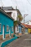 Bunte Kolonialarchitektur in Flores Guatemala Lizenzfreies Stockbild