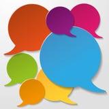 Bunte Kommunikations-Rede sprudelt weißer Hintergrund Lizenzfreies Stockfoto
