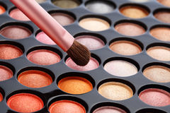 Bunte Kosmetik eingestellt stockbild