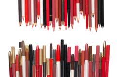Bunte kosmetische Bleistifte eingestellt Lizenzfreies Stockfoto