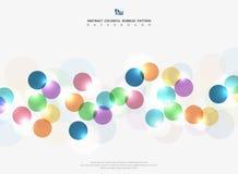 Bunte Kreisblase des abstrakten Unternehmenstones mit hellem Funkelnhintergrund Sie können für Anzeige, Plakat, Netz, Grafik, Sei vektor abbildung