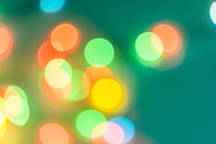 Bunte Kreise der bokeh Lichtzusammenfassung Lizenzfreie Stockfotos