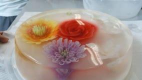 Bunte Kuchen des Blumengelee-Kuchens Stockfotografie