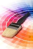 Bunte Lack-Farben-Muster Stockfoto
