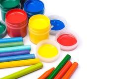 Bunte Lacke und Bleistifte Lizenzfreies Stockbild