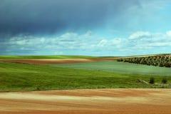 Bunte Landlandschaft Stockbild
