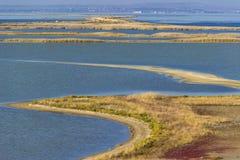 Bunte Landschaft des Wassers Stockbilder