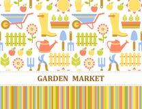 Bunte Landwirtschafts-, Bauernhof- und GartenMarktstruktur Lizenzfreie Stockfotografie