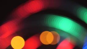 Bunte laufende bokeh Lichter in der Beleuchtung des neuen Jahres Nacht stock footage