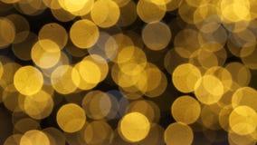Bunte laufende bokeh Lichter in der Beleuchtung des neuen Jahres Nacht stock video