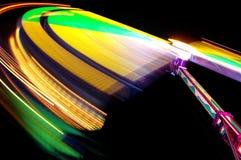 Bunte Leuchten am Funfair lizenzfreie stockbilder
