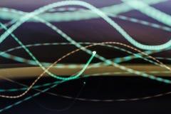 Bunte Lichter in der Bewegungsbeschaffenheit Lizenzfreies Stockfoto
