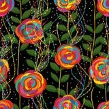 Bunte Linie nahtloses Muster der Blume der Fliege Stockfoto