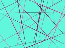 Bunte Linien, die im blauen Hintergrund kreuzen lizenzfreies stockbild