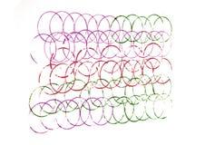 Bunte Linien von Kreisen Lizenzfreies Stockbild