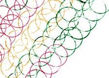 Bunte Linien von Kreisen in schräg liegender Perspektive Lizenzfreie Stockfotos