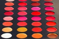 Bunte Lippenpalette Lizenzfreies Stockbild