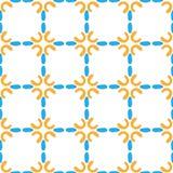 Bunte Lockenkurve des nahtlosen Musters Stockbilder