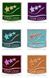 Bunte Logos für Visitenkarten Lizenzfreie Stockfotos
