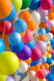 Bunte Luftballone. Stockfoto