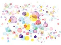Bunte Luftblasen stock abbildung