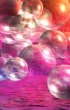 Bunte Luftblasen stockfotografie