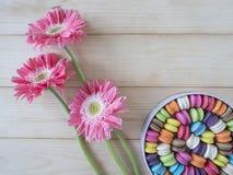Bunte macarons 11 Stockfoto