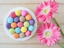 Bunte macarons 20 Stockfoto