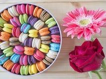 Bunte macarons 21 Stockfoto