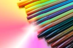 Bunte magische Stifte Lizenzfreie Stockbilder