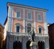 Bunte Maisonetten im italienischen Riviera Lizenzfreie Stockfotografie