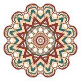 Bunte Mandala Aribic Ethnische Stammes- Verzierungen lizenzfreie abbildung